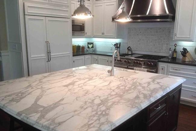 زیبایی سنگ مرمر در آشپزخانه