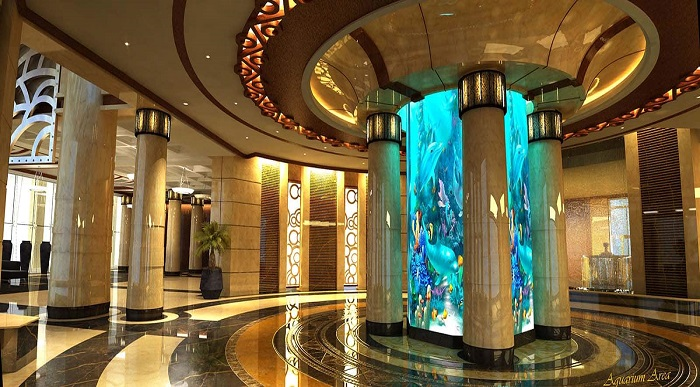 نمای سالن هتل بزرگ سورینت قشم